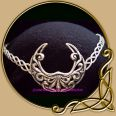Large silver crescent circlet